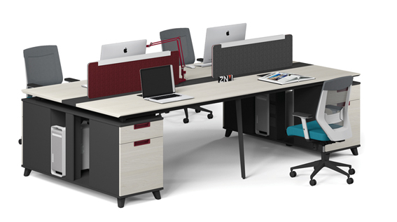 office Modular Four Person Workstation (T-WB2414B/T WB2814B)/Computer Desk