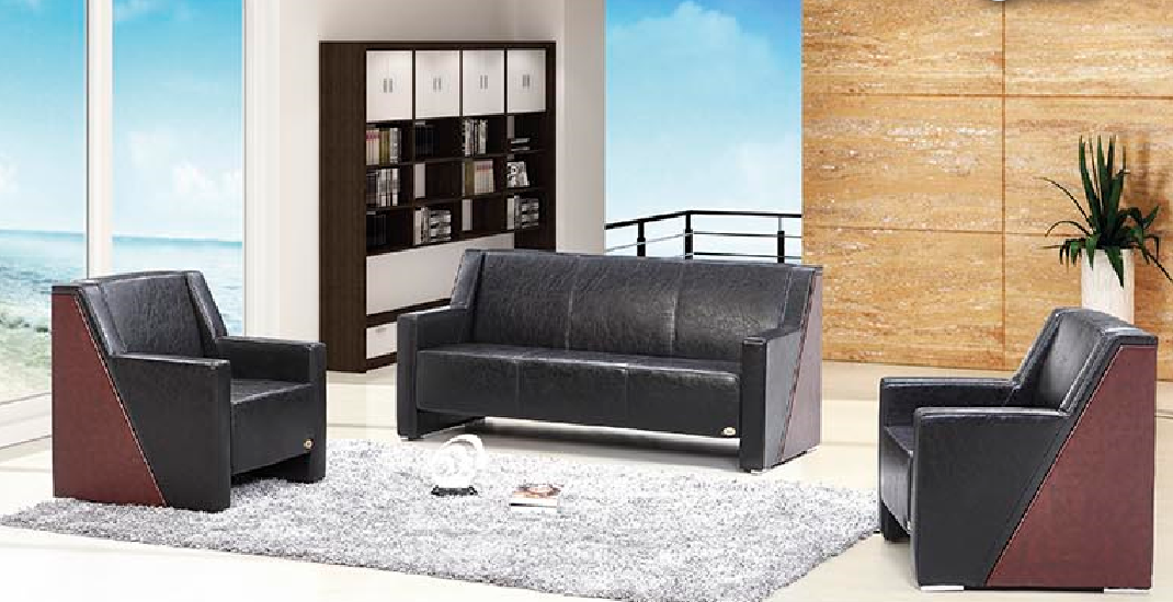 2017 Newest office sofa furniture S597 1+1+3 set