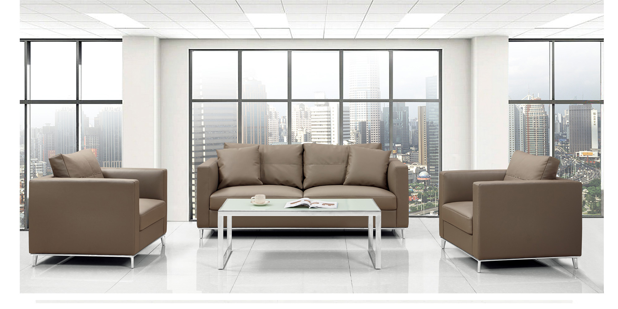 North Europe Modern office sofa Simple and Fabric SF425