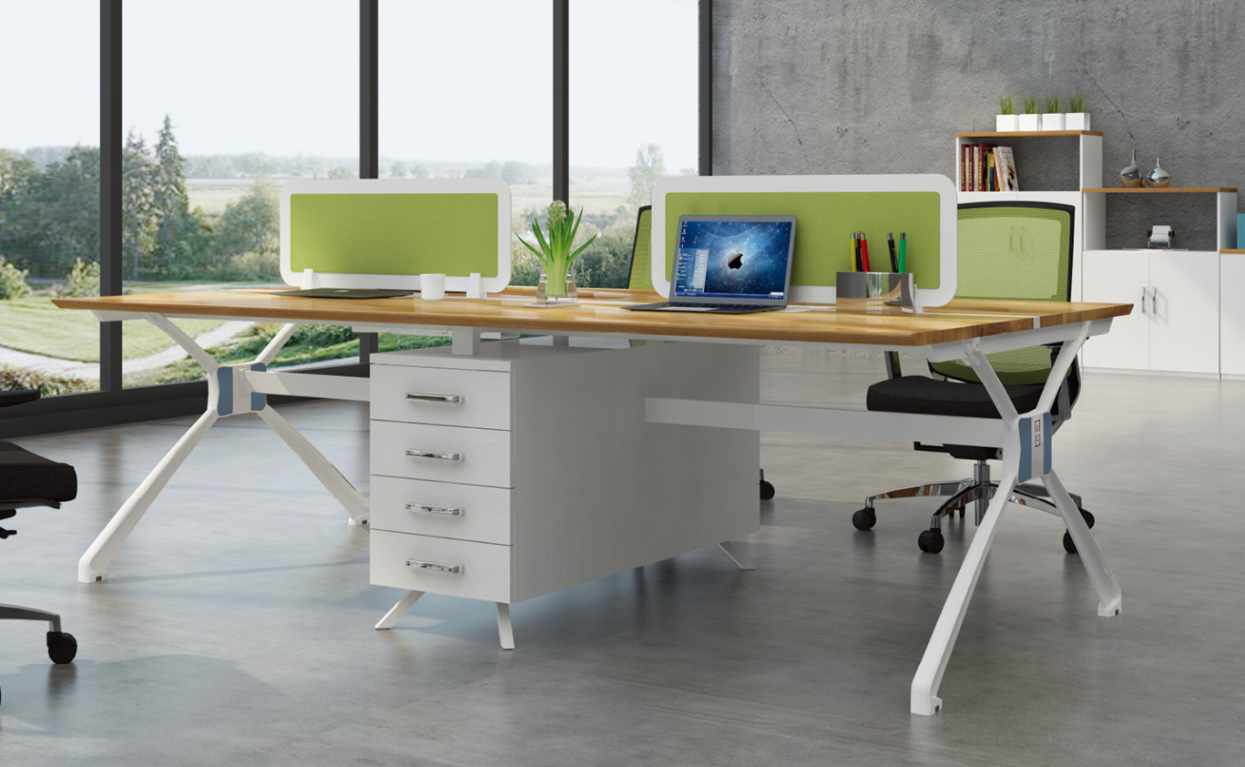 Mordern new design 4 person office table 99-WE2412