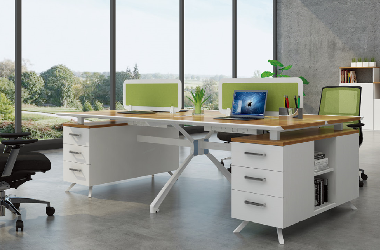Mordern new design 4 person office table 99-WF2412