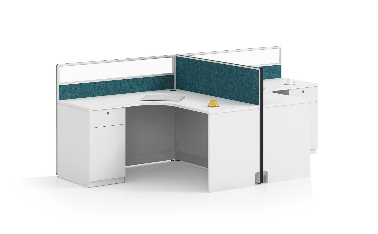 Modern style 2-person workstation Partition  O-WA2814